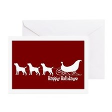 "Lab ""Sleigh"" Greeting Cards (Pk of 10)"