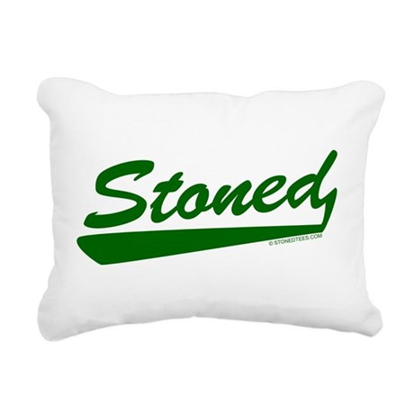 STONED.png Rectangular Canvas Pillow
