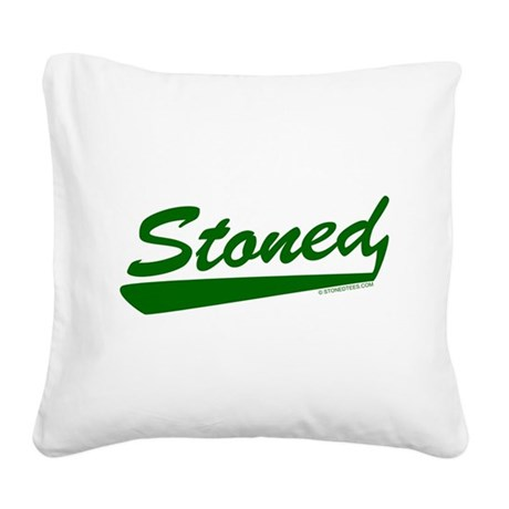 STONED.png Square Canvas Pillow