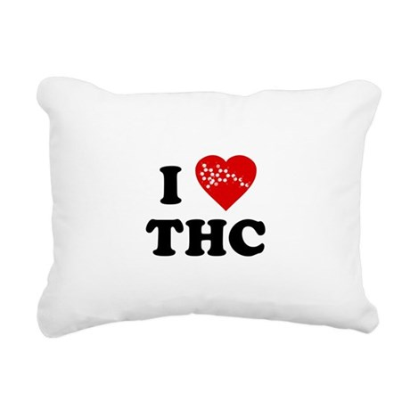 I LOVE thc.png Rectangular Canvas Pillow