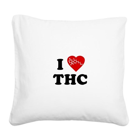I LOVE thc.png Square Canvas Pillow