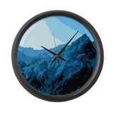 Sun on Mountains Large Wall Clock