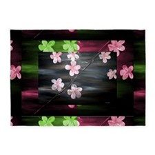 Contemporary Floral by Mark Moore 5'x7'Area Rug