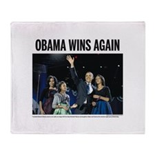 Obama Wins Again Throw Blanket