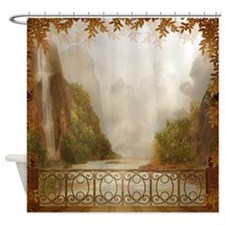 Autumn Balcony View Shower Curtain