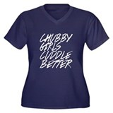 Chubby Girls Cuddle Bettter Women's Plus Size V-Ne