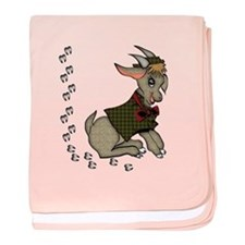 Cute Cartoon Boy Goat baby blanket