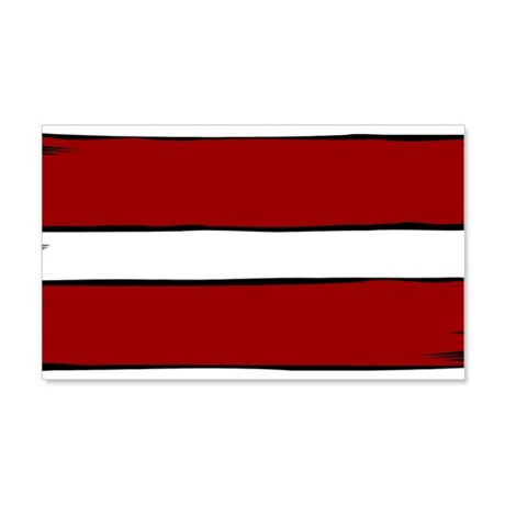 Latvia Flag 20x12 Wall Decal