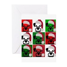 New Warhol Santa hat.png Greeting Cards (Pk of 20)