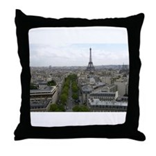Cute Champs elysees Throw Pillow
