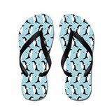 Penguin Parade Flip Flops