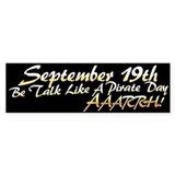 Talk Like a Pirate Day, Arrrh! Bumper Bumper Sticker