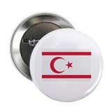 "North Cyprus flag 2.25"" Button"