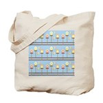 Birds with Bird Houses Tote Bag