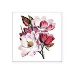 Pink Magnolia Flowers Square Sticker 3