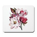 Pink Magnolia Flowers Mousepad