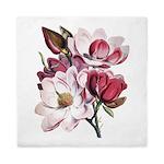 Pink Magnolia Flowers Queen Duvet
