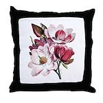 Pink Magnolia Flowers Throw Pillow
