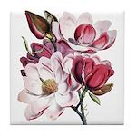 Pink Magnolia Flowers Tile Coaster
