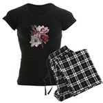 Pink Magnolia Flowers Women's Dark Pajamas