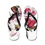 Pink Magnolia Flowers Flip Flops