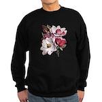 Pink Magnolia Flowers Sweatshirt (dark)
