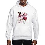 Pink Magnolia Flowers Hooded Sweatshirt