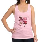 Pink Magnolia Flowers Racerback Tank Top
