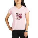 Pink Magnolia Flowers Performance Dry T-Shirt