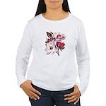 Pink Magnolia Flowers Women's Long Sleeve T-Shirt