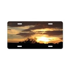 Cute Sunrises Aluminum License Plate