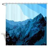 Sun on Mountains Shower Curtain