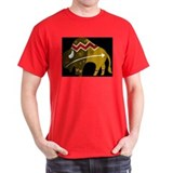 Tribal Cow Black T-Shirt