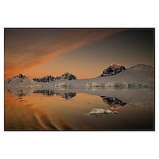 Peaks at sunset, Wiencke Island, Antarctic Peninsu