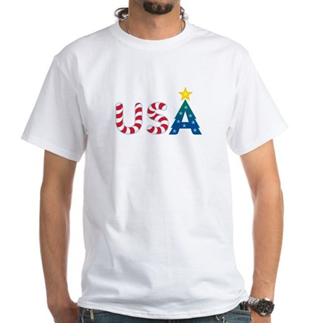 USA Christmas: White T-Shirt