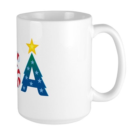 USA Christmas: Large Mug