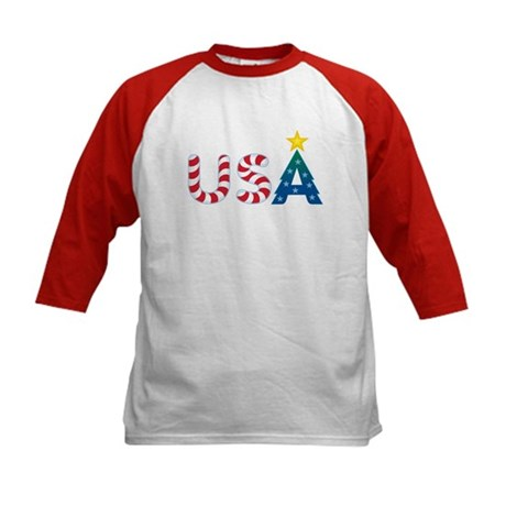 USA Christmas: Kids Baseball Jersey