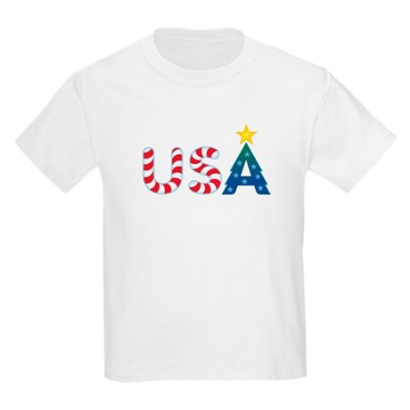 USA Christmas: Kids T-Shirt