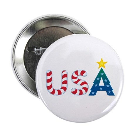 "USA Christmas: 2.25"" Button (10 pack)"