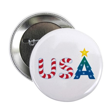 USA Christmas: Button
