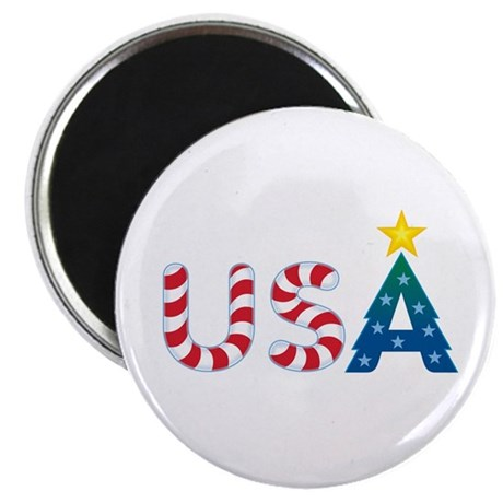 "USA Christmas: 2.25"" Magnet (10 pack)"