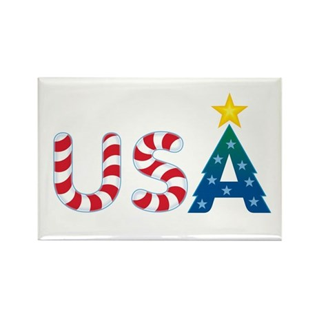 USA Christmas: Rectangle Magnet