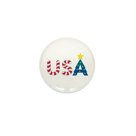 USA Christmas: Mini Button (100 pack)