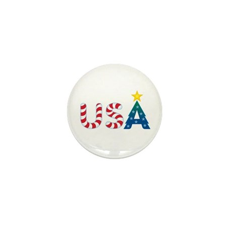 USA Christmas: Mini Button