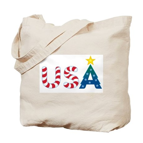 USA Christmas: Tote Bag