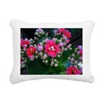 .pink kalanchoe. Rectangular Canvas Pillow