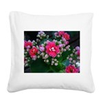 .pink kalanchoe. Square Canvas Pillow