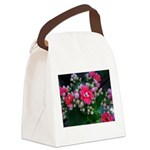 .pink kalanchoe. Canvas Lunch Bag