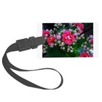 .pink kalanchoe. Large Luggage Tag