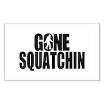 Gone Squatchin Sasquatch Sticker (Rectangle 50 pk)